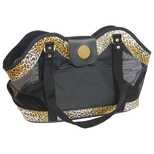 "042282 New York Dog, Open Tote, Leopard, 21"" x 10.75"" x 8.25"""