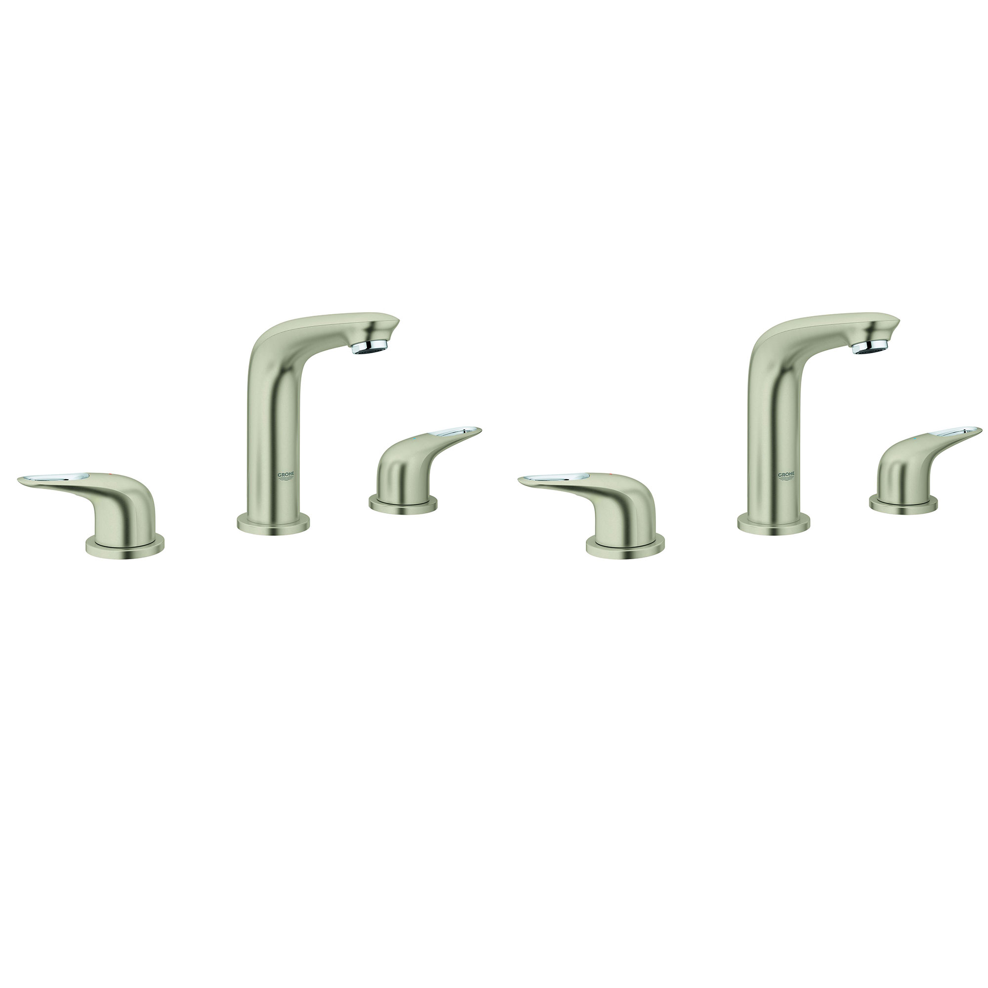 Grohe Eurostyle 8 Wide 2 Handle 3 Hole Bathroom Faucet Brushed