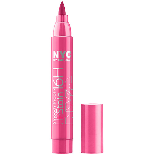 NYC Smooch Proof 16HR Lip Stain, 493 Champagne Stain, 0.1 fl oz