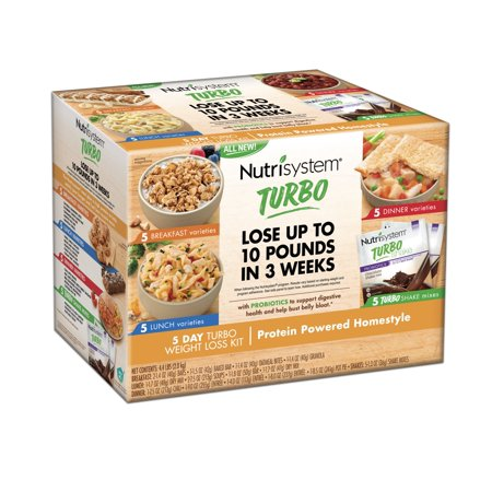 Nutrisystem 5 Day Turbo Weight Loss Kit  Protein Powered Homestyle