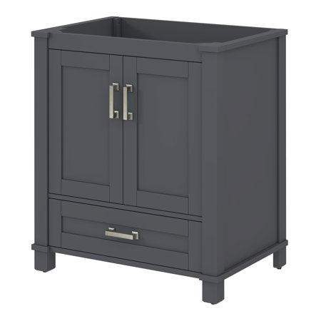 Sonata bay cool gray single sink bathroom vanity base 30 - Walmart bathroom vanities with sink ...