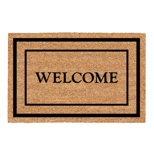 Duo Border Doormat, Coir