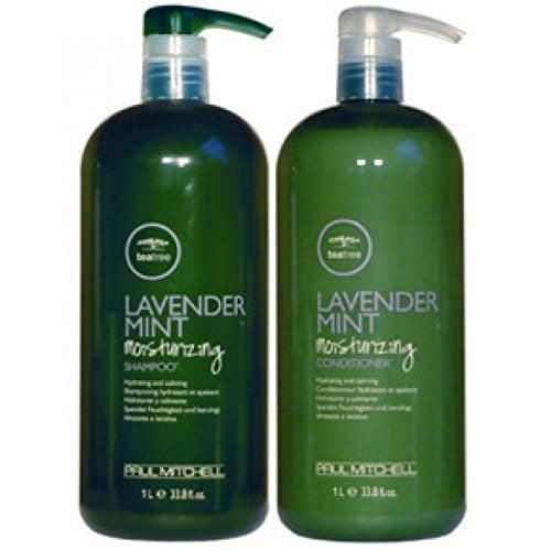 Paul Mitchell Lavender Mint Tea Tree Shampoo & Conditioner, 33.8 Oz Liter Combo Pack ($71 Value)
