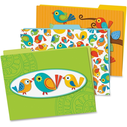Carson-Dellosa Boho Birds File Folders Set, Pack of 6