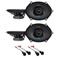 """Alpine S 5x7"""" Front+Rear Factory Speaker Replacement+Harness For 07 Ford Mustang"""