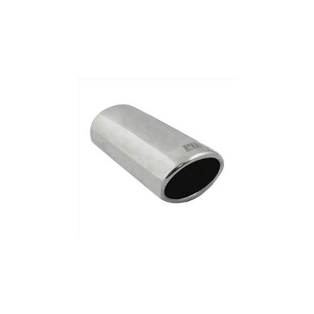 Pilot Automotive PM-5115 2 inch Oval Stainless Steel Slant Cut Bolt-On Exhaust Tip