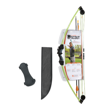 Bear Archery Scout Youth Bow Set Includes Arrows, Armguard, Arrow Quiver, and Recommended for Ages 4 to 7 – Flo Green