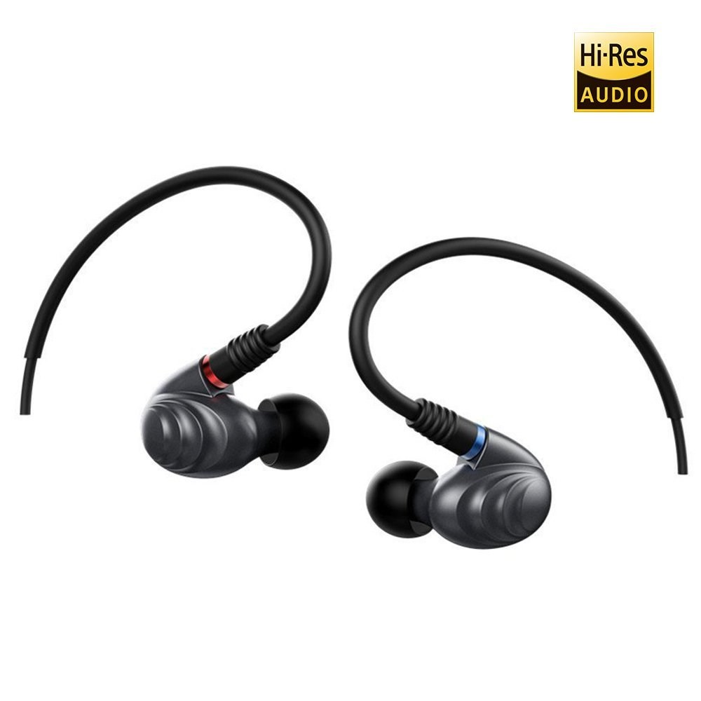 FiiO F9 PRO Best Over the Ear Headphones/Earphones/Earbuds Detachable Cable Design Triple Driver Hybrid (1 Dynamic + 2 Knowles BA) In-Ear Monitors with Android Compatible Mic and Remote (Titanium)