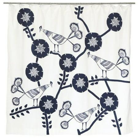 Bloomsbury Market Filion Peacock Cotton Shower Curtain