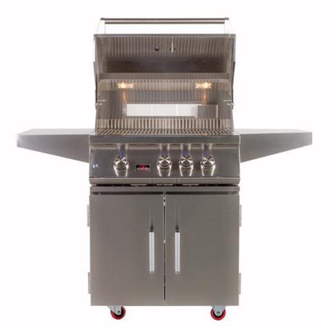 "BONFIRE 3 Premium LP Gas Grill 28"" Freestanding Cart with Double Doors by Bonfire Outdoor"