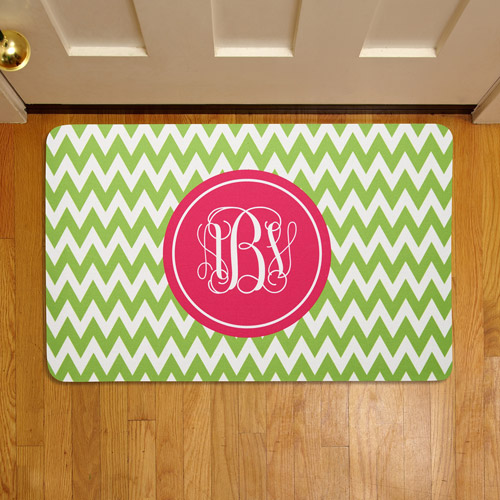 "Personalized Chevron Monogram 17"" x 27"" Doormat"
