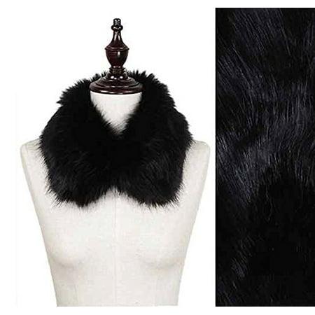StylesILove Elegant Womens Faux Fur Collar Scarf (Black)