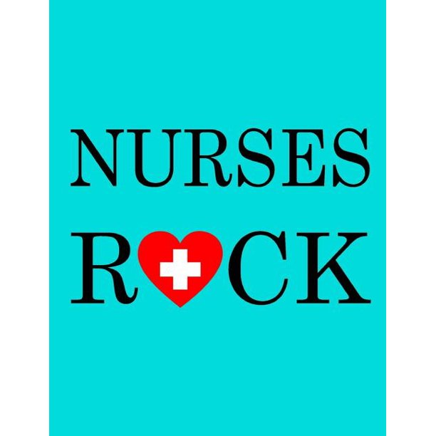 Nurses Rock : Nurse Notebook, Blue