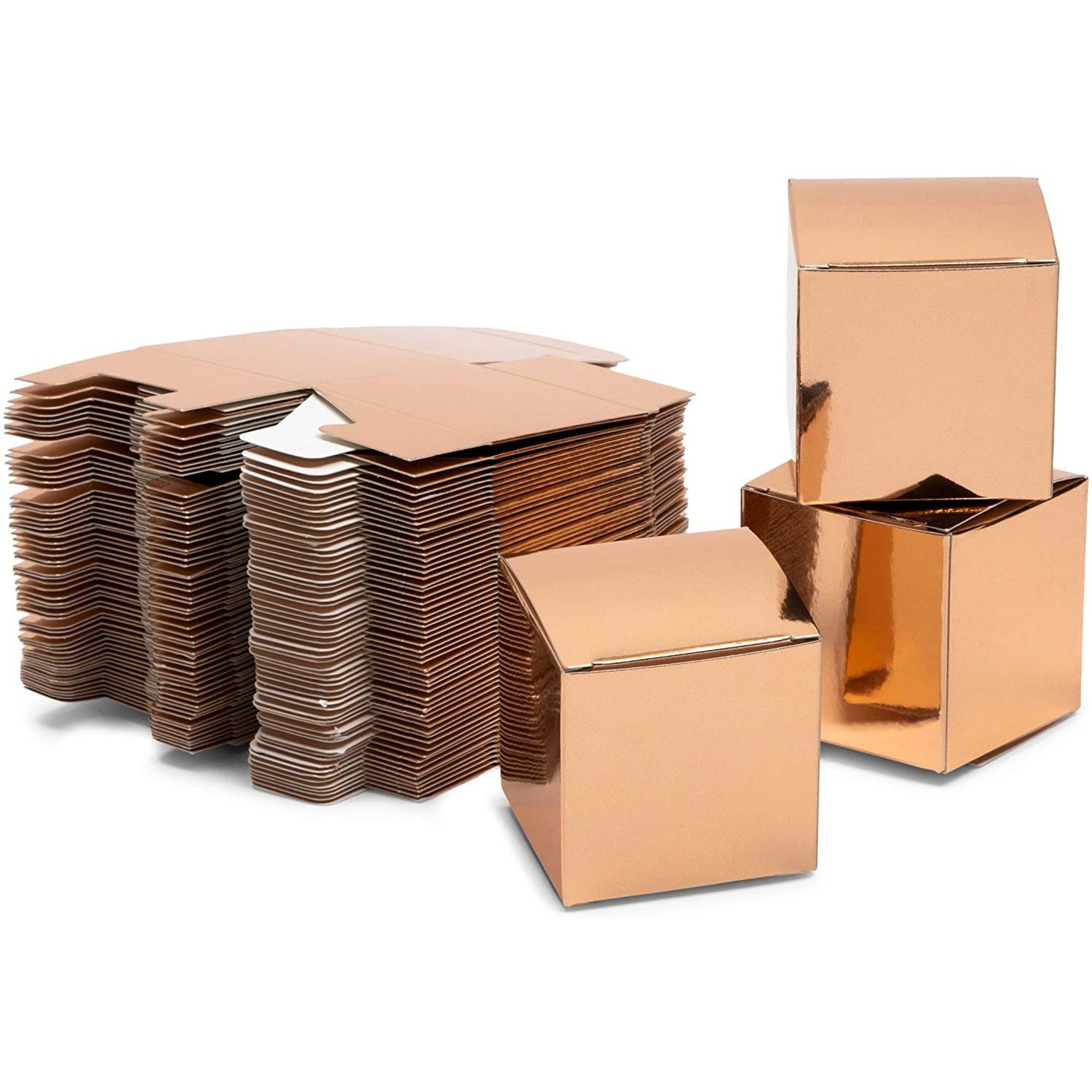 60-Pack Rose Gold Party Favor Boxes, Small Candy Treat ...