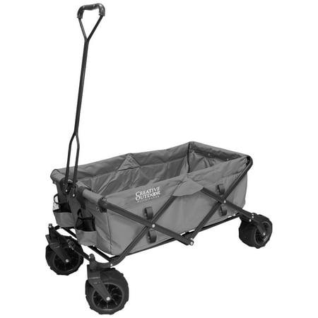 All-Terrain Folding Wagon, (Gray) - Multipurpose Cart