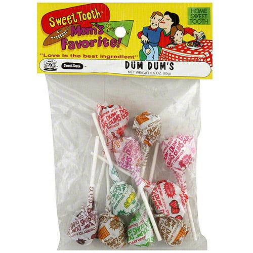 Sweet Tooth Dum Dum Pops, 2.5 oz (Pack of 12)