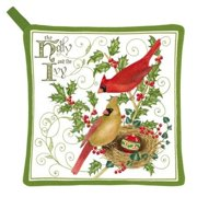 Alices Cottage Holly and Ivy Potholder