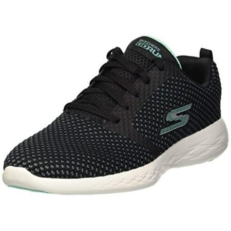 Skechers Performance Women's GO Run 600-15082 Sneaker,black/aqua,9.5 M (Af1 Sneakers)