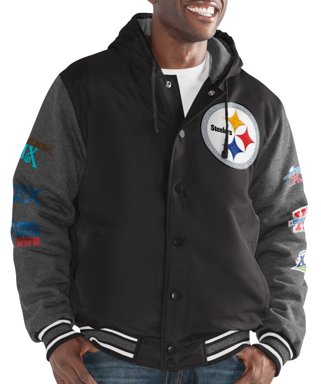 "Pittsburgh Steelers G-III NFL ""Top Brass"" Men's Premium Varsity Jacket by G-III Sports"