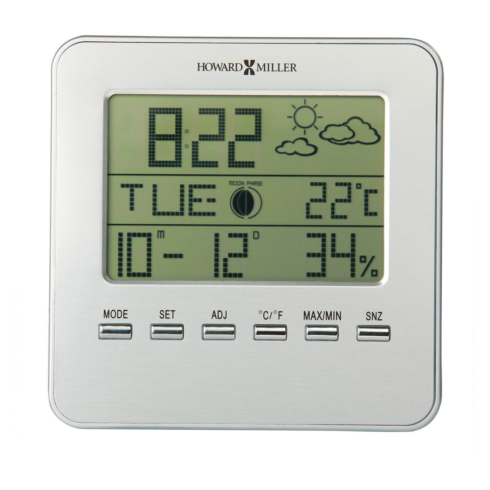 Howard Miller 645-693 Weather View Desktop Clock by Howard Miller