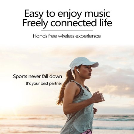 Mini wireless Headsets. Wireless Music Earphones. Stereo Sports Headphones with Charging Box for iPhone and Android Smart Phones - image 7 of 14