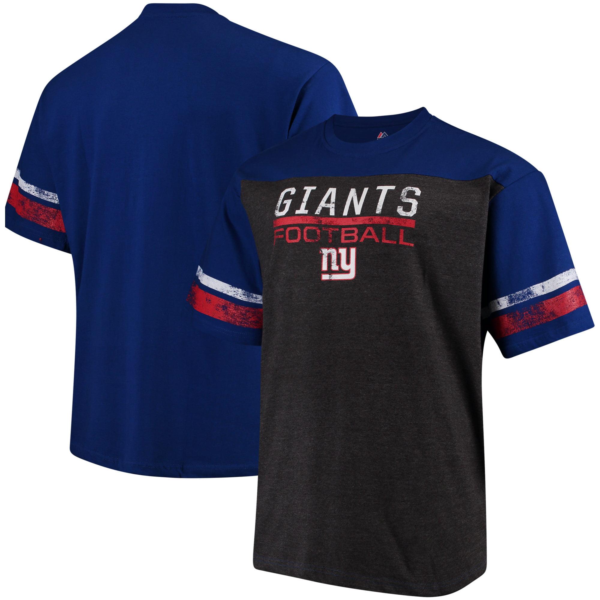 New York Giants Majestic Big & Tall Game Lead T-Shirt - Royal