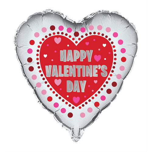 "18"" Foil Radiant Hearts Valentine Balloon"
