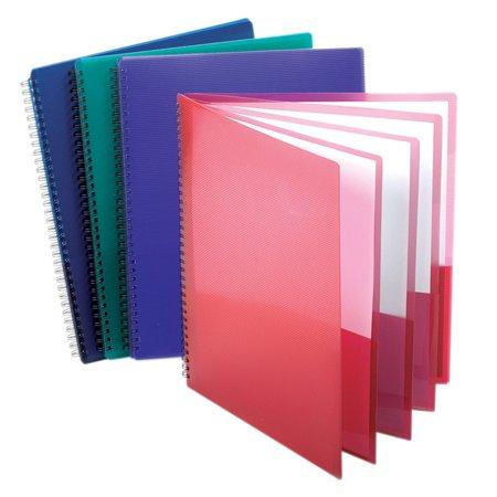 Oxford Wire Binding 8-Pocket Folders - Letter - 8 1/2