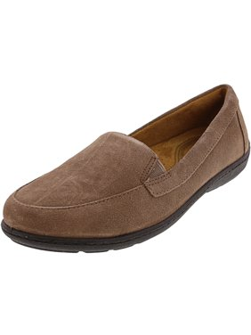 Natural Soul Women's Kacy Taupe Ankle-High Leather Loafer - 5M