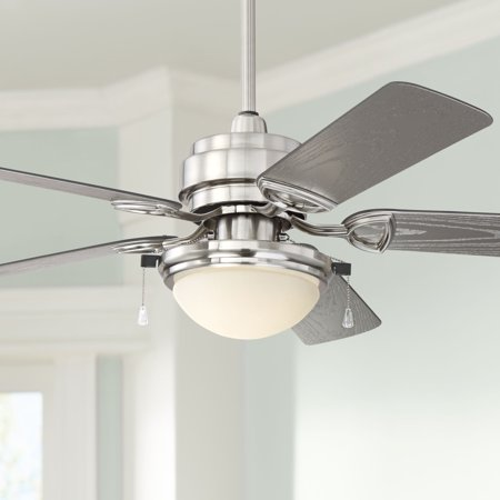 52 Casa Vieja Outdoor Ceiling Fan With Light Led Brushed Nickel Wet Rated For Patio Porch