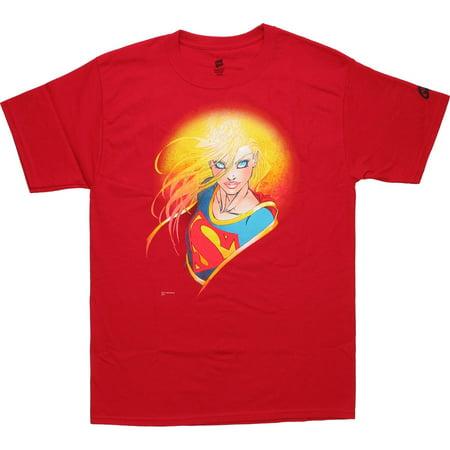 Supergirl Glow T-Shirt - Super Girl Tshirt
