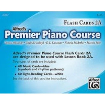 Alfred 00-22367 Premier Piano Course- Flash Cards, Level 2A