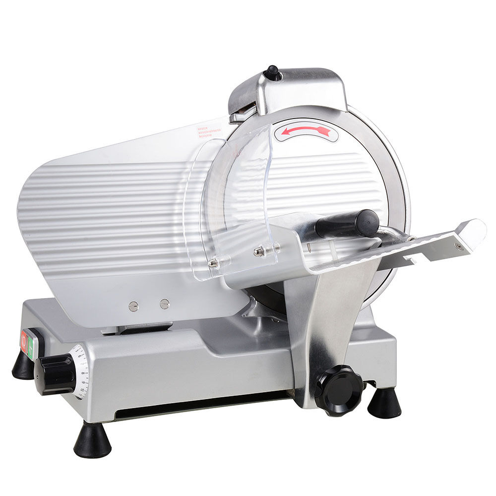 """GHP Commercial 10"""" Stainless Steel Blade Deli Meat Cheese Food Slicer 530RPM"""