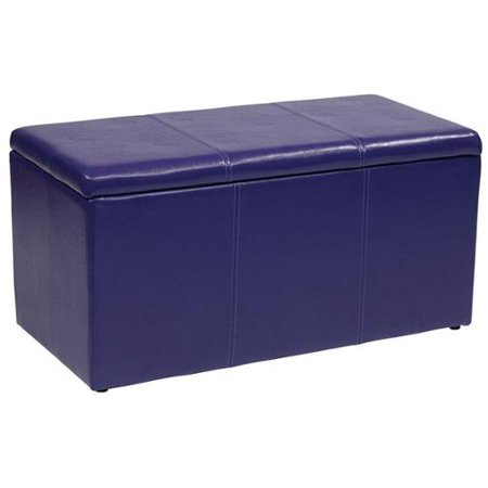 Metro vinyl ottoman bench with two matching storage ottomans metro vinyl ottoman bench with 2 Purple storage bench