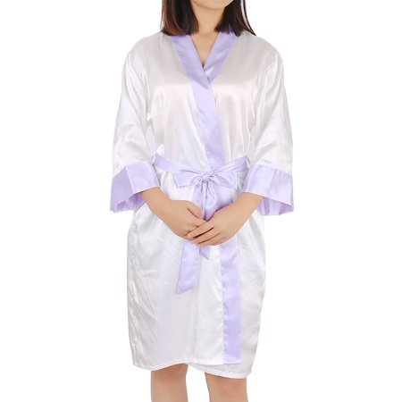 Women's Silk Satin Short Kimono Robes Sexy Sleepwear For Wedding Party (Personalized Wedding Robes)