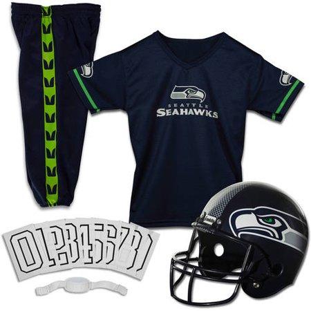Franklin Sports NFL Seattle Seahawks Youth Licensed Deluxe Uniform Set, Small 28 Seattle Seahawks Jersey