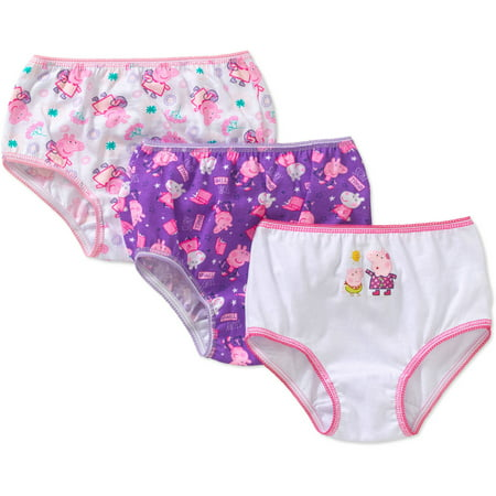 Peppa Pig Toddler Girls' Underwear, 3-Pack