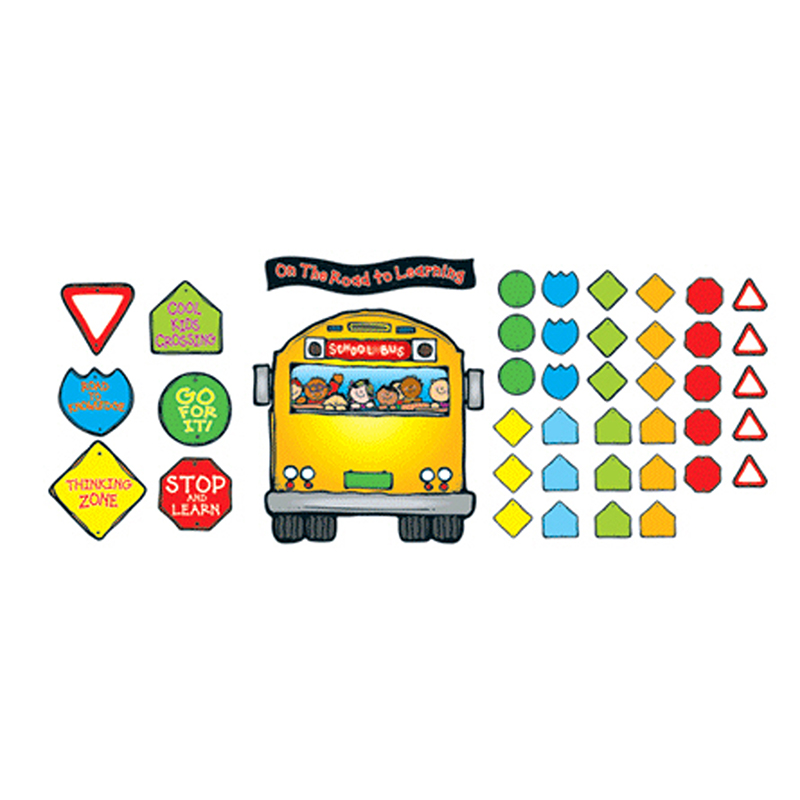 SCHOOL BUS BULLETIN BOARD SET