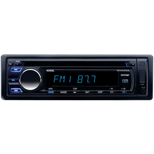 SOUNDSTORM M335USA Single-DIN In-Dash CD Receiver with Detachable Front Panel