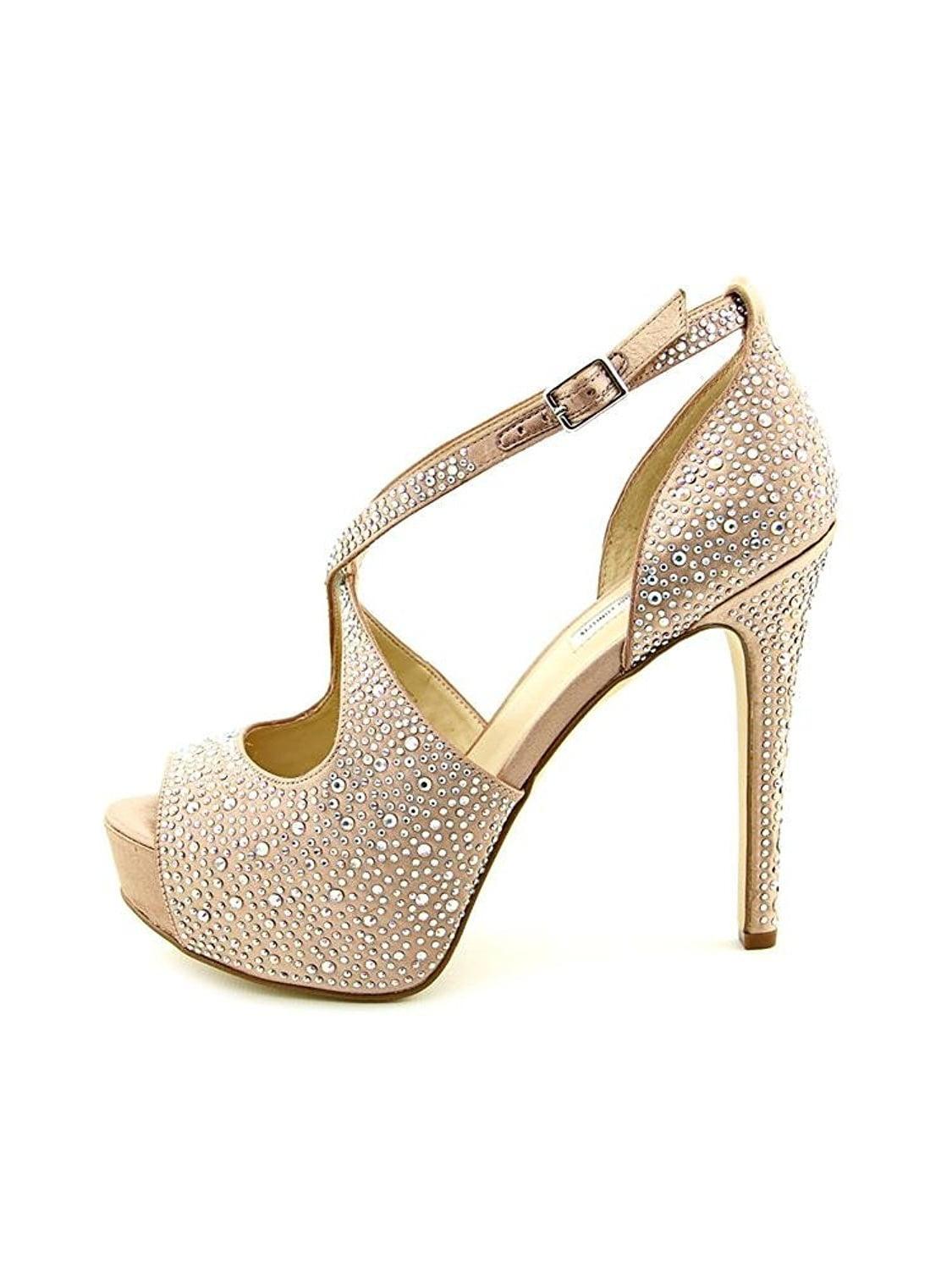 INC International Concepts Womens Melvie 2 Peep Toe Ankle Strap Platform Pumps