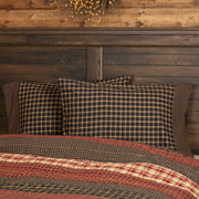 Soft Black Rustic & Lodge Bedding Bannack Cotton Plaid Standard Pillow Case Set of 2