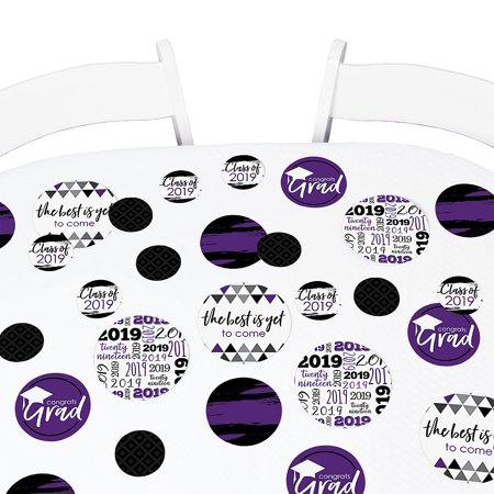 Purple Grad - Best is Yet to Come - 2019 Graduation Giant Circle Confetti -  Grad Party Decor - Large Confetti 27