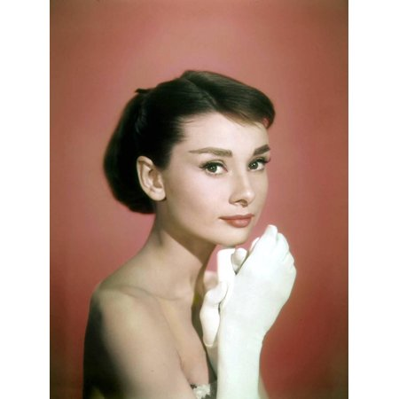 Portrait of the American Actress Audrey Hepburn, Photo for Promotion of Film Sabrina, 1954 Print Wall Art