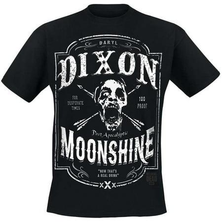 the walking dead daryl dixon moonshine men's black t-shirt](Daryl Dixon Vest Halloween)