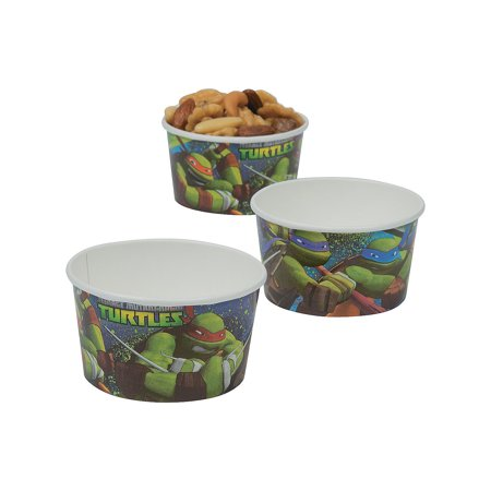 Ninja Turtles Birthday Party Supplies (Tmnt Treat Cups (8pc) for Birthday - Party Supplies - Licensed Tableware - Licensed Cups - Birthday - 8)