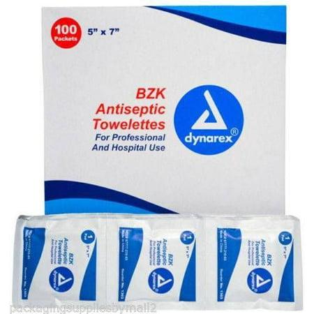 - Dynarex Benzalkonium Antiseptic Towelettes 100/Box
