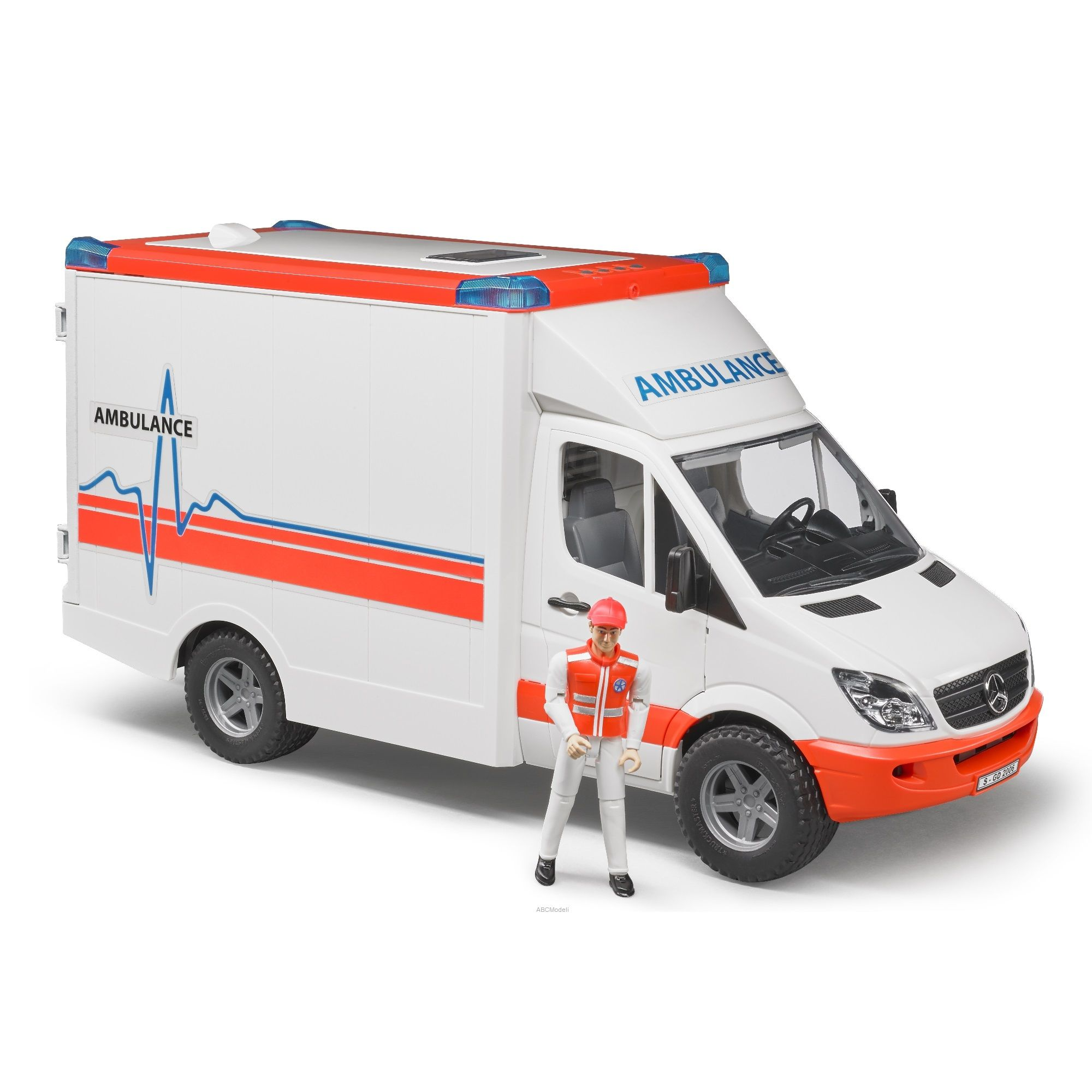 Mercedes Benz Spinter Ambulance with Driver - Vehicle Toy by Bruder Trucks