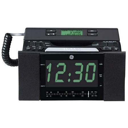 GE 29298FE1 Corded Bedroom Phone with CID/Radio/Alarm Clock (Black ...
