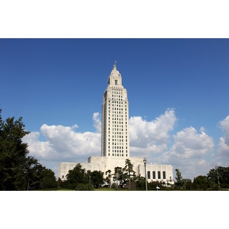 Laminated Poster Government Louisiana Capitol Building Baton Rouge Poster Print 11 x 17 - Party Time Baton Rouge