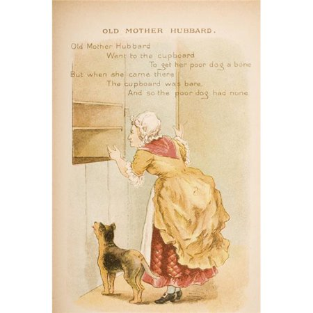 Posterazzi DPI1859279LARGE Nursery Rhyme & Illustration of Old Mother Hubbard From Old Mother Gooses Rhymes & Tales Illustrated by Constance Poster Print, Large - 22 x 34 - image 1 de 1